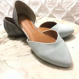 GENTLY USED PASTEL BLUE FLATS